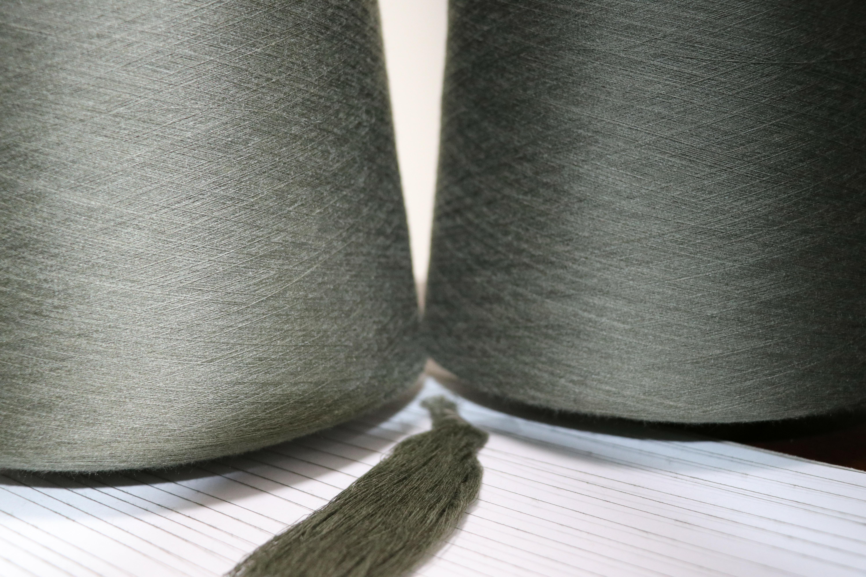 泽天40ST/R  65/35  军绿色中长纱线 常规纱 可加工定制 可染色 厂家直销