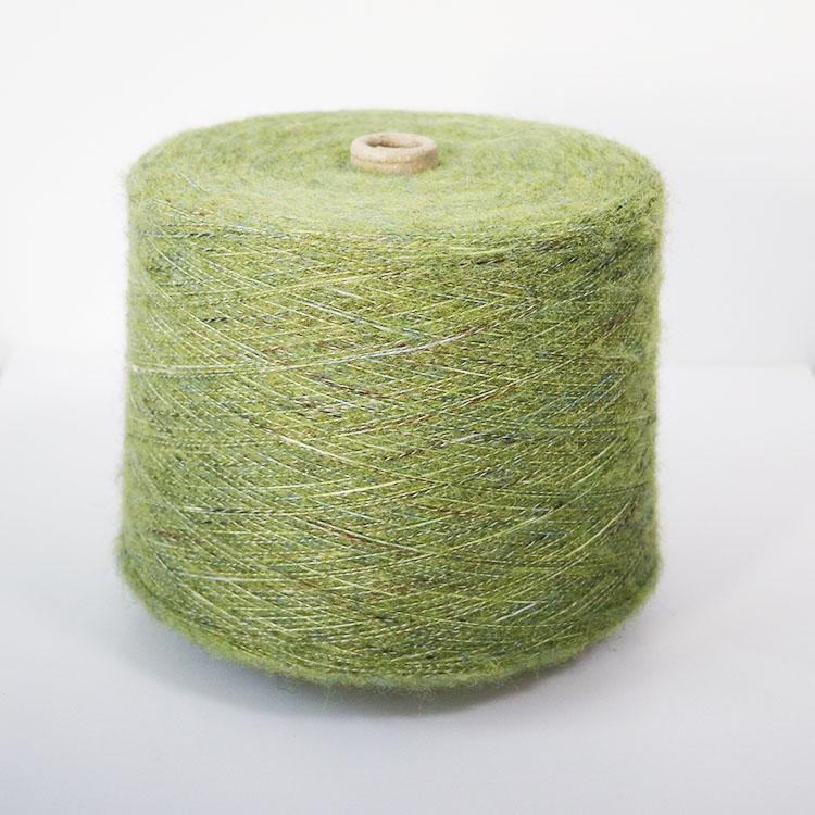 6.5支 70涤纶22腈纶6羊毛2氨纶丝 混纺纱 段彩纱 拉毛花式纱