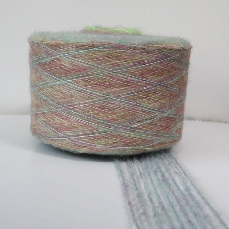 3.6S 腈纶 涤纶尼龙羊毛 混纺渐变纱 喷毛纱 花式纱 用于针织