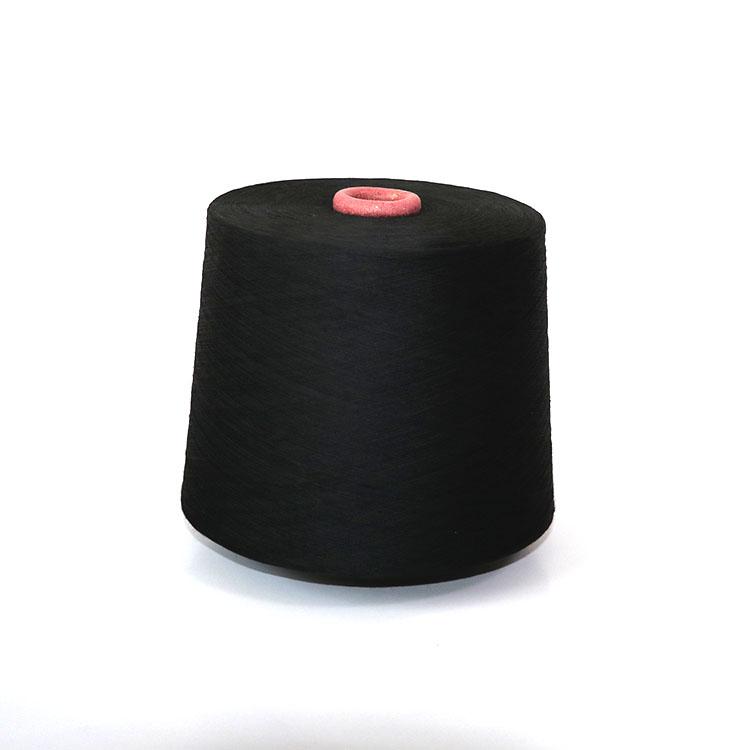 泽天缘32S纯涤纶黑色环锭纺纱 涤纶纱 常规纱 染色纱